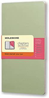 Moleskine Chapters 淡绿色横间纤细中型笔记本