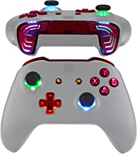 eXtremeRate 多色发光 Dpad 拇指棒 Start Back ABXY 动作按钮,猩红色经典符号按钮 DTFS (DTF 2.0) LED 套件 适用于 Xbox One S/X 控制器 - 不包括控制器