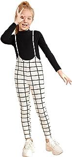 Milumia 女孩格子交叉后背连身衣细肩带露背总裙裤