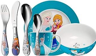 WMF 福腾宝 1286009974 儿童餐具7件套,迪士尼冰雪奇缘图案,18/10钢,彩色