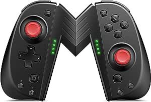 ALIENGT Joypad 控制器替换件 适用于 Nintendo Switch Joycon,无线Joypad 操纵杆遥控器,带可编程宏按钮,支持涡轮/运动/双振动,适用于 Nintendo Switch