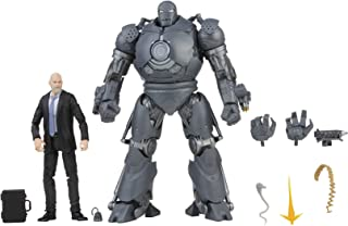 Hasbro 孩之宝 漫威传奇系列 15 厘米 Obadiah Stane 和 Iron Monger 人偶,2 件装,Infinity Saga,高级设计和 8 个配件