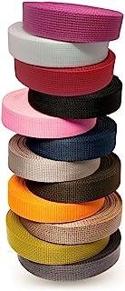 Matador Useful Goods 轻质聚丙烯织带,红色 1 英寸(约 2.5 厘米),10 码 | Polypro (Poly) 绑带,用于 DIY 户外装备修理、工艺、项圈、包、货物、吊环、皮带、运动