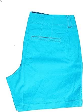 LEE 女士中腰修身基本斜纹棉布短裤