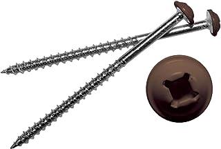 Mid America 彩绘螺丝 适用于乙烯基百叶窗 009 联邦棕色 12 件装