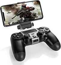 TNP PS4 控制器手机夹支架夹持支架适用于索尼 PlayStation 4 PS4 双震动无线控制器 [Playstation 4] 适用于 iPhone 11 Pro、11 Pro Max、11、Xs Max、X、8 Plus、8、7