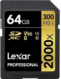 Lexar 雷克沙 专业64GB 2000x 高性能SDXC UHS-II 内存卡 带USB读卡器