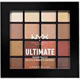 NYX 专业彩妆眼影盘,Pressed Pigments,,16色,哑光,缎面,金属色,阴影:暖中性
