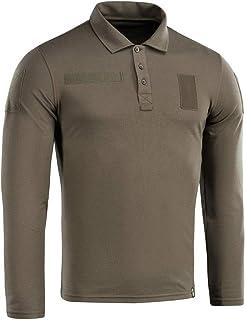 M-Tac 战术性能 Polo 长袖衬衫男式棉 65/35 军旅男士 T 恤