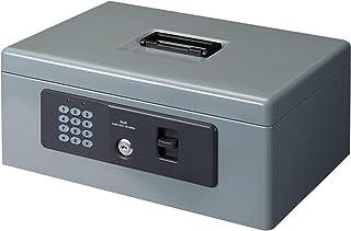 プラス 金庫 電子ロック 手提金庫 Mサイズ グレー CB-020HL 13-101