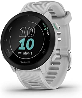 Garmin 佳明 Forerunner 55 - GPS 跑步手表,带 1.04 英寸(约 14 厘米)彩色显示屏,日常训练建议,运行时间预测,超过 15 个预装运动应用程序,电池续航时间长达14 天。