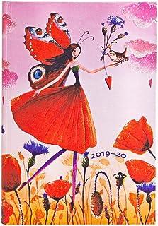 Paperblanks 18 个月日历 2019-2020 罂粟花田 水平 迷你(95 × 140 毫米) | 语言:英语