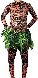 Maui 部落印染纹身 T 恤/裤子 万圣节成人男式女式角色扮演服装 适合嘉年华派对