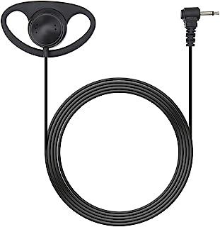 D 形耳挂耳机 3.5 毫米 1 针插头连接器 只听软橡胶耳机无麦克风 适用于双向收音机