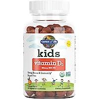 Garden of Life 儿童维生素 D3 软糖,每日一次强 壮身体 ·不含糖 素食,橙子味,800 IU(DV…