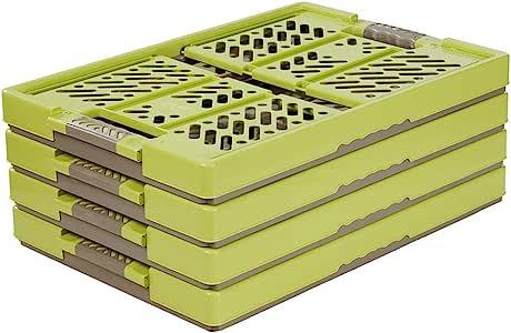 keeeper 4 x Stabile 专业折叠箱,带柔软触感,54 x 37 x 28 厘米,45 升,本,*/灰褐色