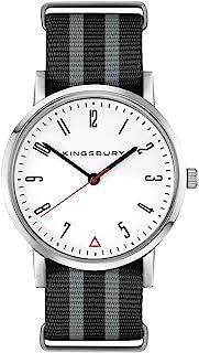 防水男士手表 - 休闲运动白色表盘腕表 - 尼龙表带 James Bond 黑灰色