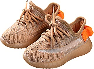 Daclay 儿童休闲鞋男孩和女孩酷炫风格儿童网眼透气软底跑步鞋