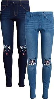 dELias 女童超弹力牛仔紧身牛仔裤(2 件装)