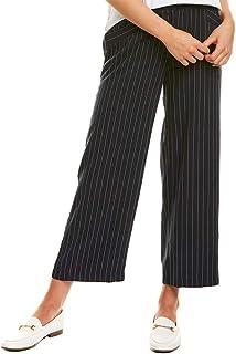 Eileen Fisher 女士天丝七分阔腿条纹裤靛蓝色(*蓝)小号(PP)
