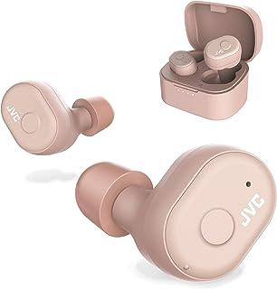 JVC Truely 无线耳机,蓝牙5.0,防水(Ipx5),电池寿命长(4+10小时),*舒适,佩戴*泡沫耳塞HAA10TP  Pink