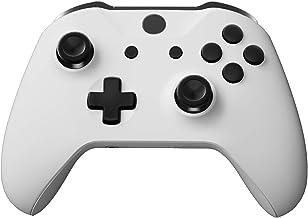 eXtremeRate LB RB LT RT 缓冲器触发器 D-Pad ABXY 启动回同步按钮,黑色全套装按钮修复套件,带 Xbox One S 和 Xbox One X 控制器工具(型号 1708)
