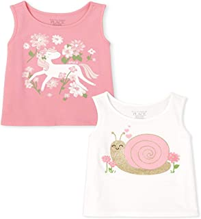The Children's Place 女童图案背心,两件装