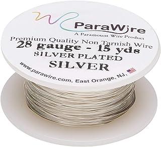 ParaWire 镀银铜工艺线 28 号 15 码(约 2.8 米)带透明保护涂层