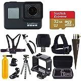 GoPro HERO7 黑色数码动作相机带 4K 高清视频 12MP 照片,SanDisk 32GB Micro SD…