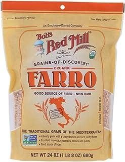Bobs Red Mill Grain Organic Farro,24 盎司(4 件装)
