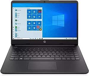 2021 HP 14 英寸高清笔记本电脑,Intel Core 英特尔酷睿 i3-1005G1 处理器,4GB 内存,128GB SSD,HDMI,网络摄像头,Wi-Fi,蓝牙,Windows 10 S 模式,深黑色,W / IFT 配件