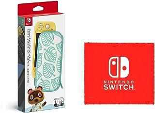 Nintendo 任天堂 Switch Lite便携包 红豆 动物森林 ~ 暖心爱的图案~(附屏幕保护膜) (Nintendo Switch 标志设计 超细纤维布 捆绑)