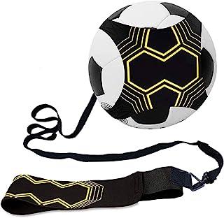 足球踢球训练器,足球训练器可调节足球踢球训练器材控制技能腰部练习带排球橄榄球训练器辅助通用适合 3、4、5 个儿童青少年足球