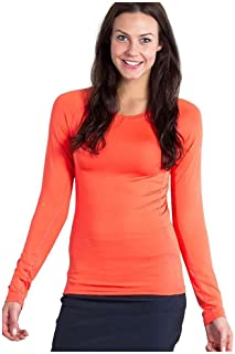 ExOfficio Women's Sol Cool Long Sleeve Shirt, Hot Coral, X-Large