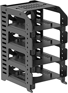 UCTRONICS Raspberry Pi 树莓派簇,金属机架外壳带 4 个可拆卸层和 2 个冷却风扇,支持树莓派 4B,3B+/3B 和其他 B 型号,可选的 2.5 英寸 SSD 安装板