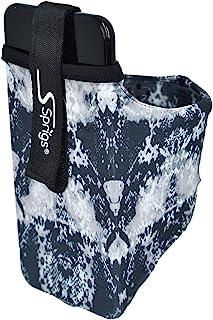 Sprigs 手机臂带袖套适用于 iPhone 12/11/x/8/7/6 Plus、Galaxy S7/S6、Google Pixel 5 4XL。*轻便舒适的跑步臂带,适合所有女士和男士的手机 - 黑色抽象