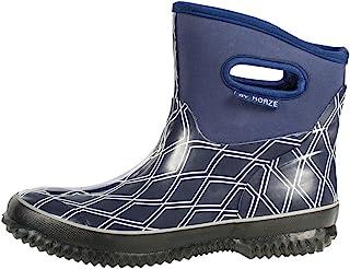 HORZE Supreme Georgia 氯丁橡胶围场靴,双排扣大衣深蓝色