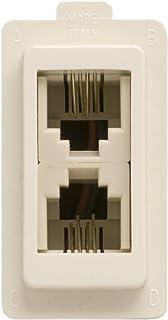 Feb 2085 电话插座 2 插头 RJ11