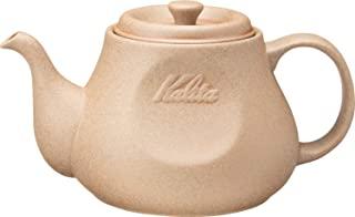 Kalita 咖啡壶 700毫升 波佐见烧 砂岩 HASAMI & Kalita #35199 棕色