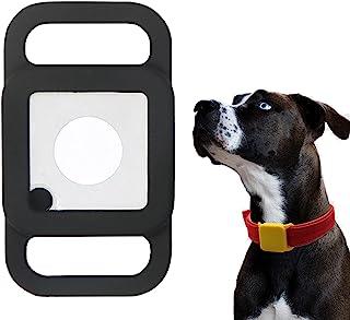 (1 包)Tile Mate 2020/2018 宠物项圈保护套支架,iZi Way 弹性橡胶防水保护套保护套兼容瓷砖伴侣狗/猫美元 1 英寸宽-黑色