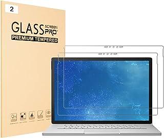 J&D 兼容 Microsoft Surface Book 3 15 英寸玻璃屏幕保护膜,2 件装 [钢化玻璃] [全覆盖] 高清透明弹道玻璃屏幕保护膜适用于 Surface Book 3 15 英寸玻璃膜