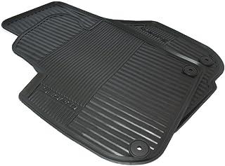 Skoda 3T1061551 橡胶脚垫 2 个正面橡胶垫 原装 全天气垫 黑色 带字样