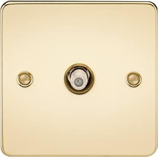 Knightsbridge FPAV0150PB 平板 1G 卫星电视插座 (非隔离) - 抛光黄铜