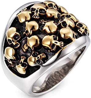 Jude Jewelers 不锈钢死亡哥特式骷髅自行车手戒指