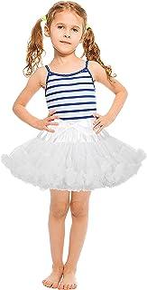 女婴蓬蓬裙衬裙,婴儿薄纱蓬蓬裙蓬松芭蕾舞衬裙