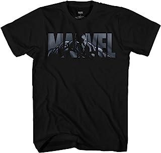 Marvel 漫威标志黑豹复仇者*英雄成人 T 恤图案 T 恤男式服装