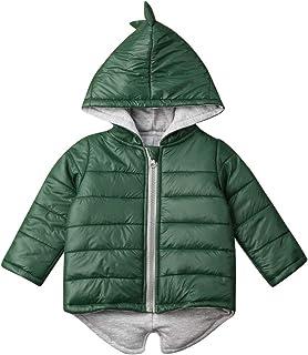 SUUGEN 幼童女婴连帽衫背心外衣 3D 恐龙无袖马甲保暖夹克