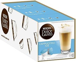 Nescafé Dolce Gusto冰卡布奇诺 | 48枚咖啡胶囊 | 阿拉比卡咖啡豆 | 醇香咖啡和蓬松牛奶泡沫 | 气味密封胶囊 | 3个装 (3 x 16 胶囊)