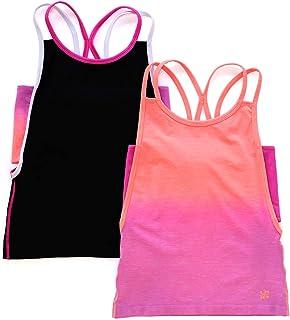 LittleMissMatched 吊带背心 2 件装(纯色和渐变色)