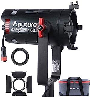 Aputure 60D LED 视频灯 LS60D 60W 视频灯 多电源支持 NP-F970 电池 内置 8 种灯光效果 带谷仓 CRI 96+ TLCI 98+ 提供自然、无瑕的颜色